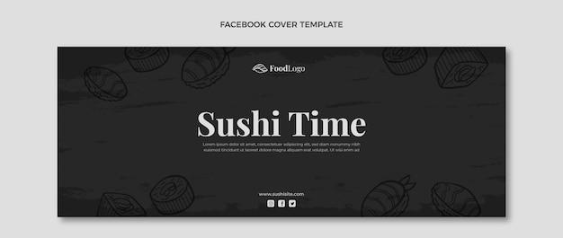Copertina facebook di cibo disegnato a mano