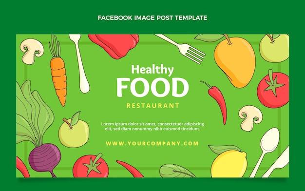 手描きの食べ物のfacebookの投稿