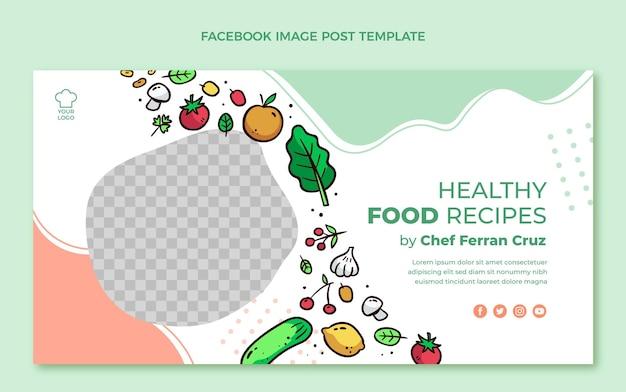 Hand drawn food facebook post