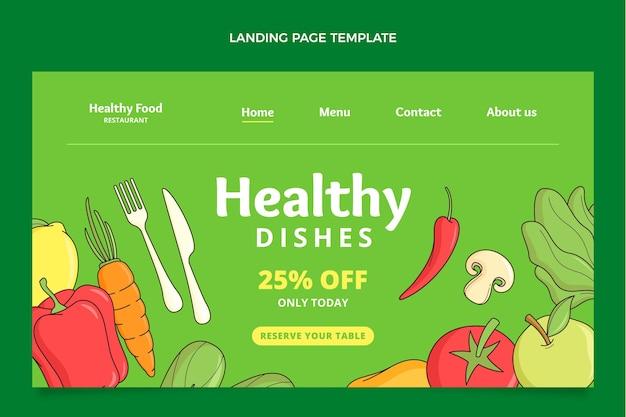 Hand drawn food landing page