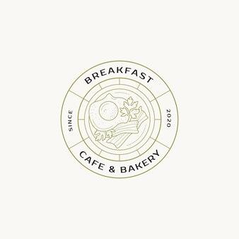 Ручной обращается еда готовый логотип дизайн шаблон коллекции графический значок символ для кафе ресторан