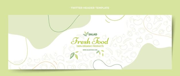 Hand drawn food twitter header