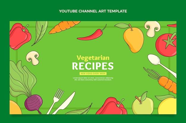 手描きの食べ物youtubeチャンネルアート
