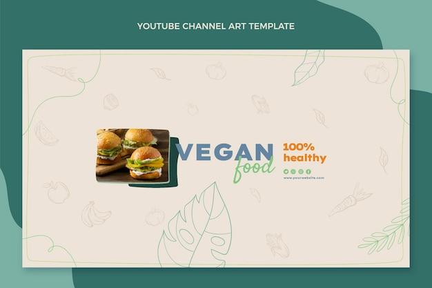 손으로 그린 음식 youtube 채널 템플릿