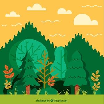 Рисованной фон леса