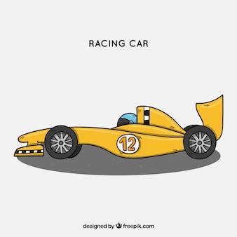 Hand drawn formula 1 racing car