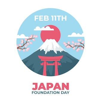 Hand drawn foundation day (japan)