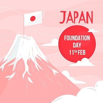Hand drawn foundation day japan