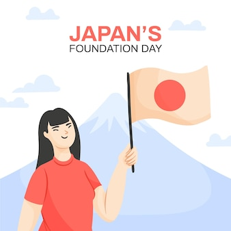 Hand drawn foundation day