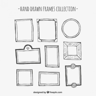 Hand drawn frame collection