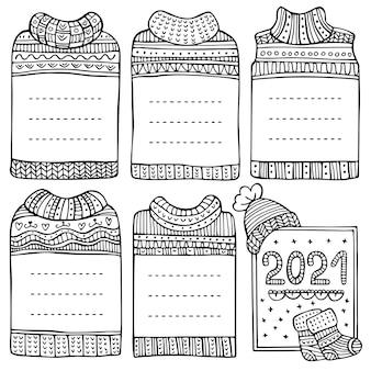 Нарисованные вручную оправы в виде свитера