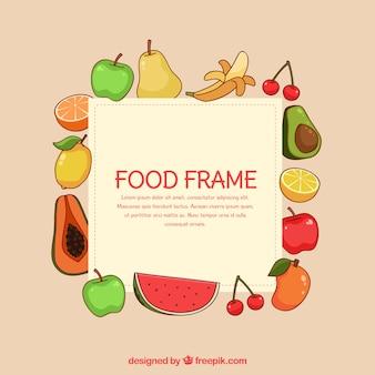 Ручная обрамленная рамка из фруктов