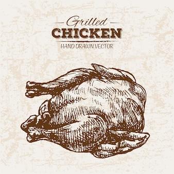 Жареное куриное мясо на руке