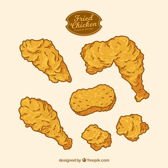Hand drawn fried chicken