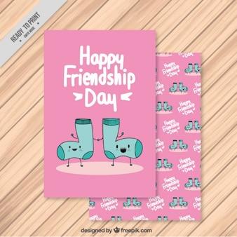 Рисованной друзей носки карты
