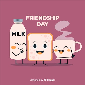 Hand drawn friendship day background
