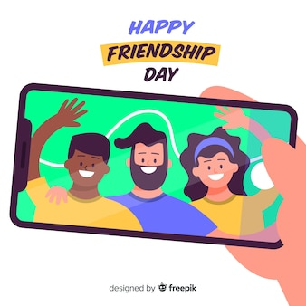 Hand drawn friendship day background