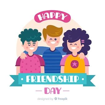 Ручной обращается фон день дружбы