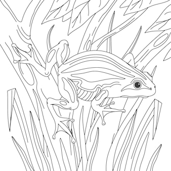 손으로 그린 된 개구리 색칠