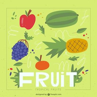 Disegnata a mano sfondo frutta