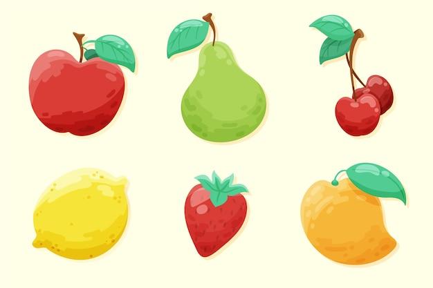 손으로 그린 과일 컬렉션