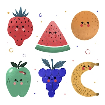 Hand drawn fruit pack
