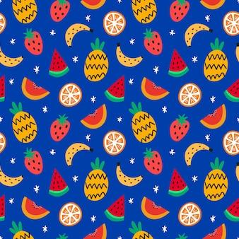 손으로 그린 된 과일 패턴