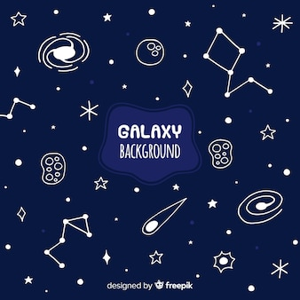 Hand drawn galaxy background