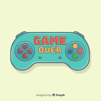 Hand drawn game pad logo