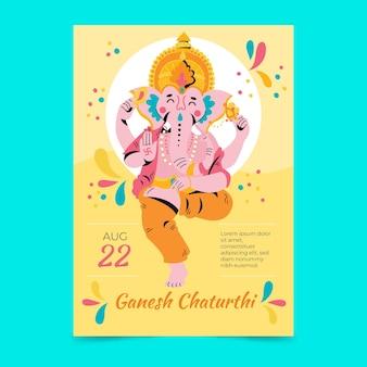 Hand drawn ganesh chaturthi poster