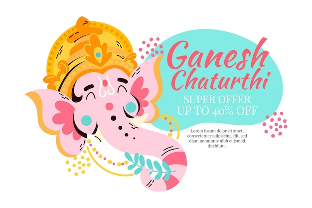 Vendite disegnate a mano di chatanthi del ganesh
