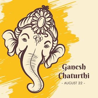 Hand drawn ganesh chaturthi