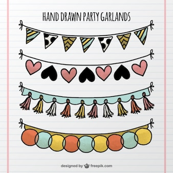 Hand drawn garlands pack
