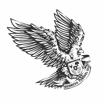 Hand drawn garuda bird