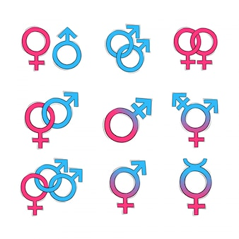 Hand drawn gender symbol
