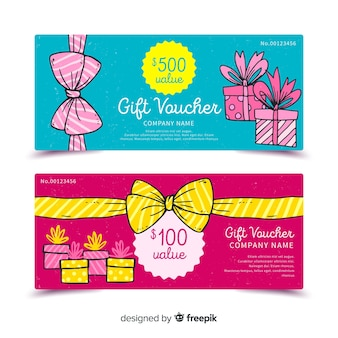 Hand drawn gift voucher