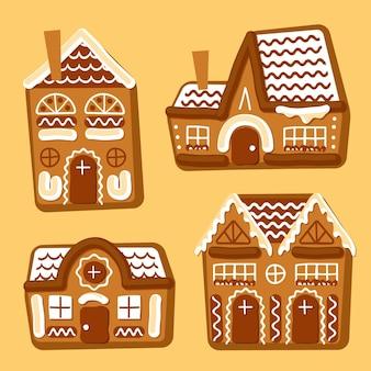 Confezione casa di marzapane disegnata a mano