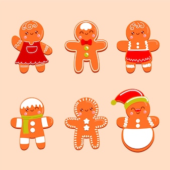 Hand drawn gingerbread man cookies