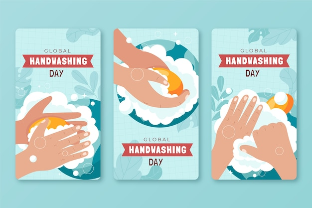 Коллекция историй instagram всемирный день мытья рук