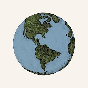 Hand-drawn globe illustration