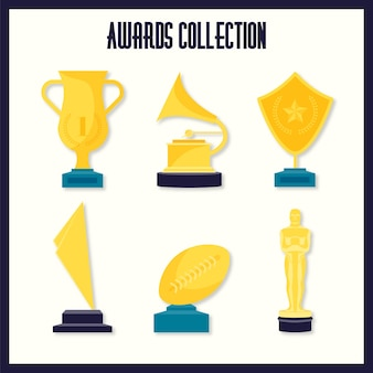 Oscars vectors photos and psd files free download hand drawn golden awards with an oscar prize pack stopboris Image collections