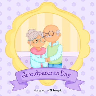 Hand drawn grandparent's day composition