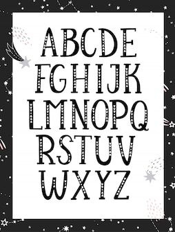 Hand drawn graphic font