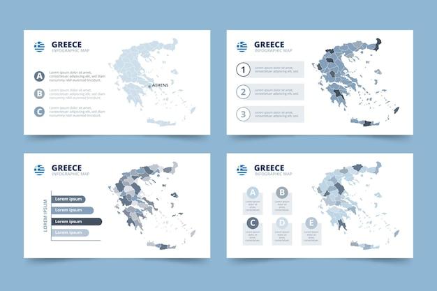 手描きギリシャ地図インフォグラフィック