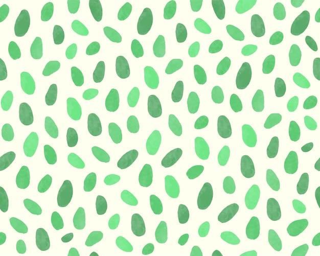 Нарисованная рукой зеленая предпосылка картины листьев.