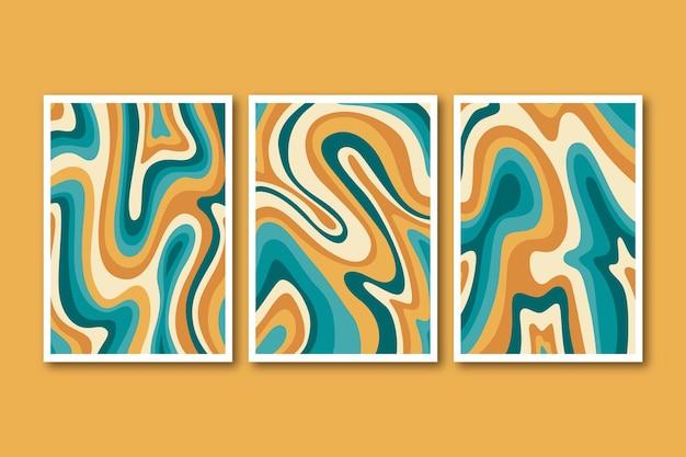 Collezione di copertine psichedeliche disegnate a mano