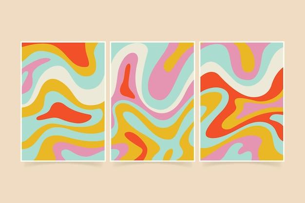 Pacchetto di copertine psichedeliche disegnate a mano