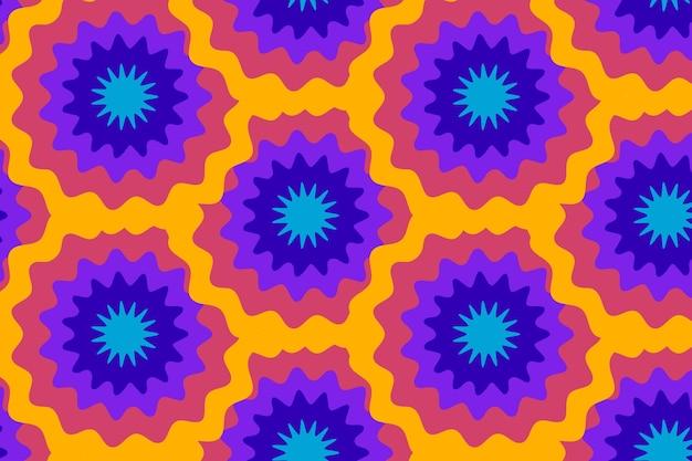 손으로 그린 그루비 환각 스타일 패턴