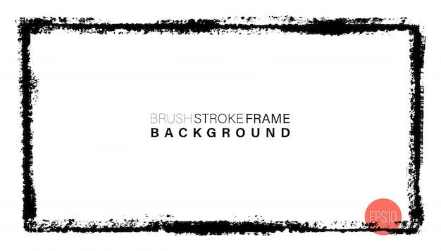 Hand drawn grunge frame rectangular shape.