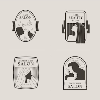 Коллекция логотипов салона красоты